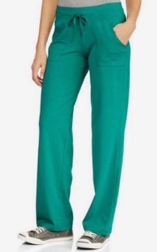 84455204743 DANSKIN NOW RELAXED FIT ACTIVE WORKOUT YOGA PANTS - TEAL - PLUS SIZE 4X (26  28)  DanskinNow  CasualPants
