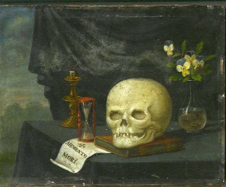 Anonyme 17°s. - Memento mori - peinture sur panneau