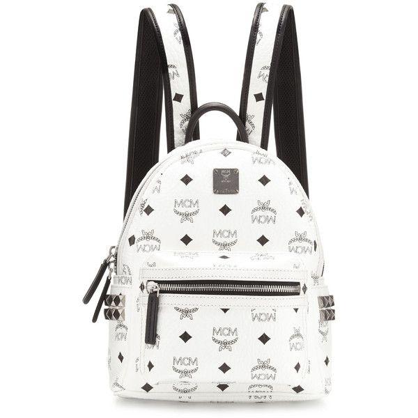 MCM Stark Side Stud Mini Backpack ($670) ❤ liked on