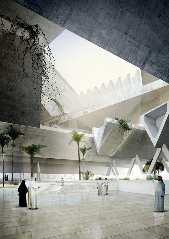 Qatar Courthouse | AGi architects; Render by Poliedro Architectural Visualizations | Archinect