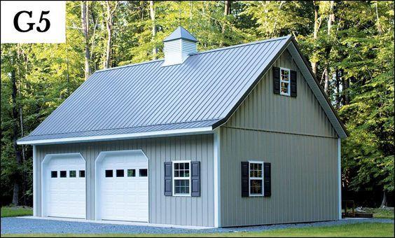 custom post frame garage g5 Shop Pinterest – Post Frame Garage Plans