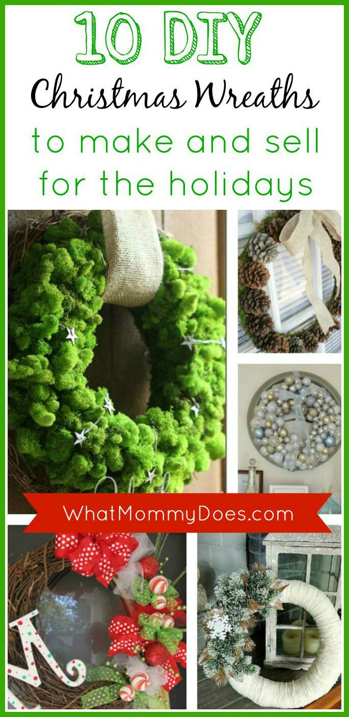 christmas wreaths to make and sell for the holidays whatmommydoes on pinterest pinterest christmas christmas wreaths and christmas wreaths to make