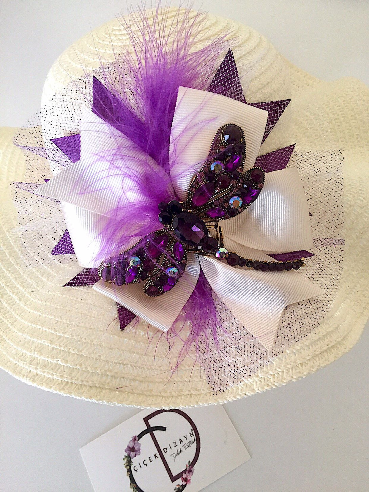Photo of Ceeam Straw Hat Toddler, Sun Hat Baby Girl, Summer Cap Kids, Purple Dragonfly Hat Children, Birthday Gift, Photo Shoot Prop, Feather Fancy