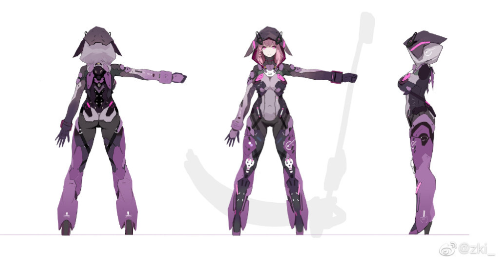 zki 的微博 微博 キャラクターデザイン 作品 少女