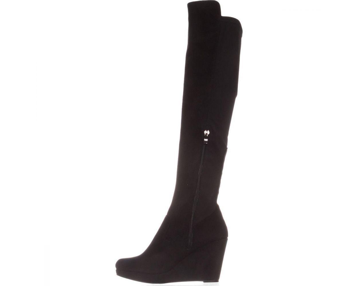 Chinese Laundry Lavish Knee High Wedge Boots Black Wedge Boots