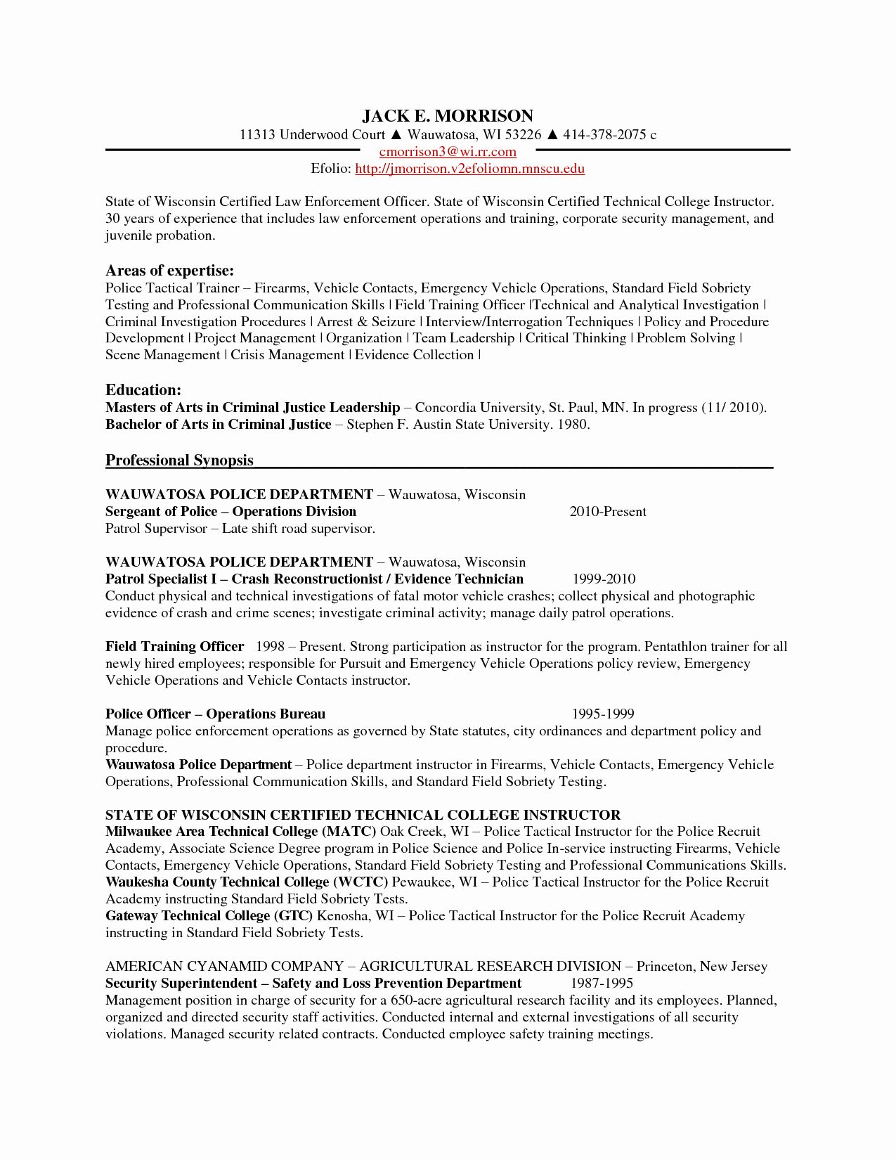 Military police job description resume best of police