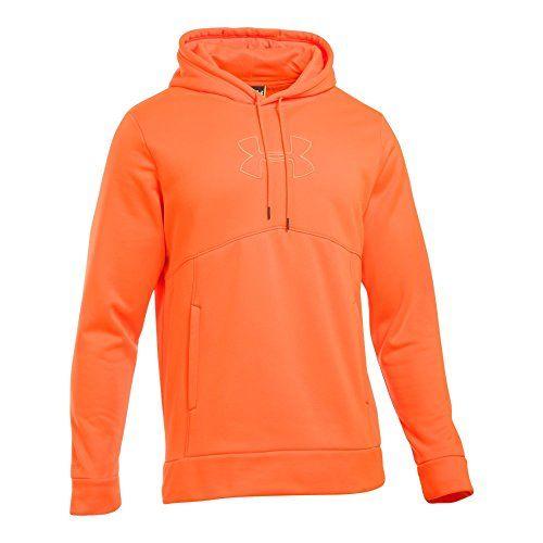 7358d3d211db8 Under Armour Men's Storm Caliber Hoodie, Blaze Orange/Blaze Orange, Small  http: