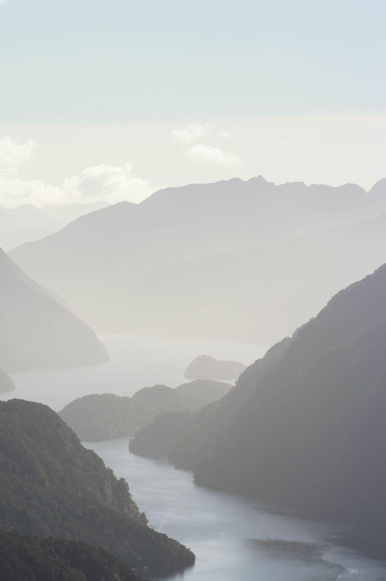"yes-to-adventure: ""Hazy afternoon over Doubtful Sound. Doubtful Sound, Fiordland, South Island, New Zealand """