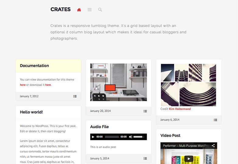 Crates, responsive tumblog theme