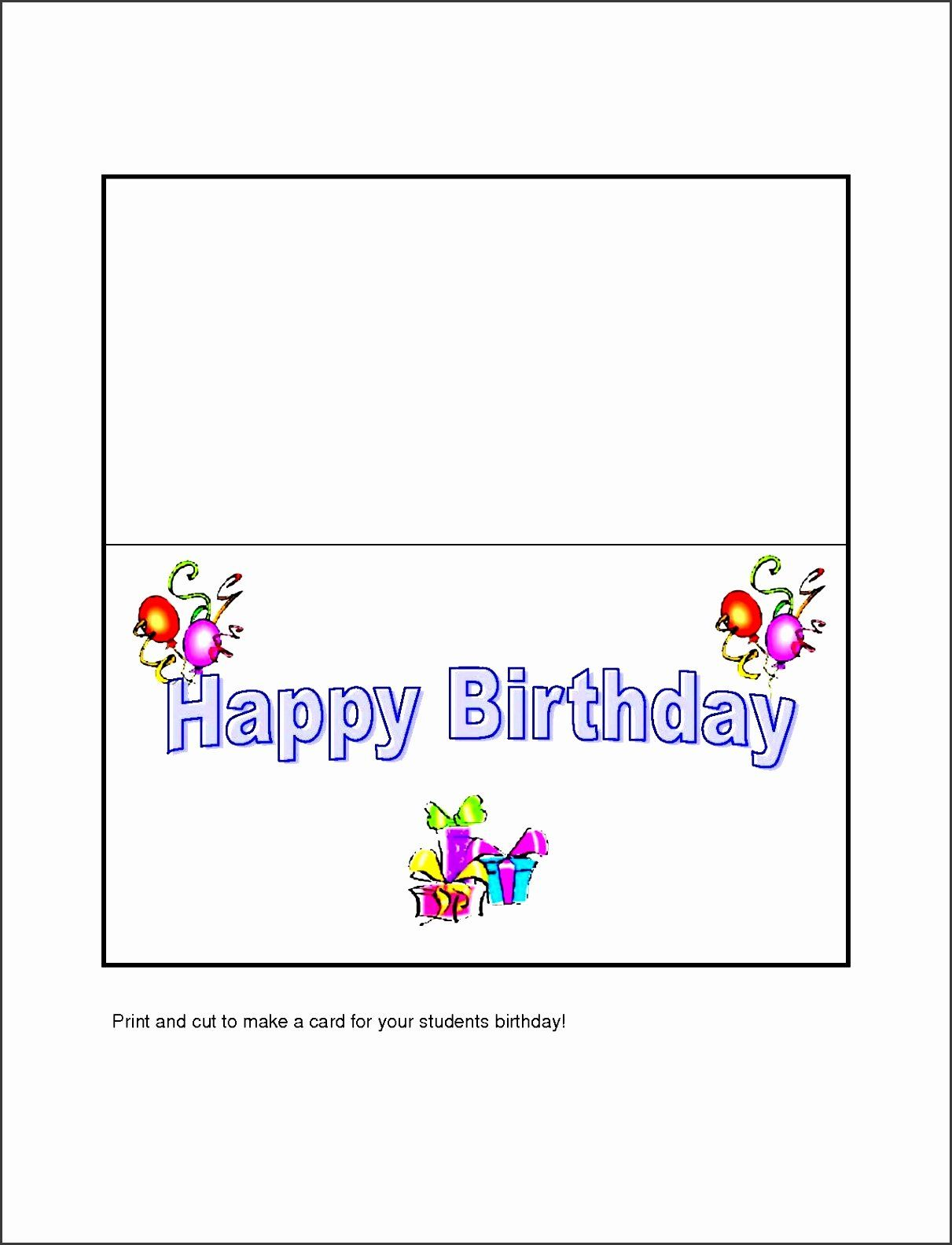 24 Microsoft Word Birthday Card Templates In 2020 Greeting