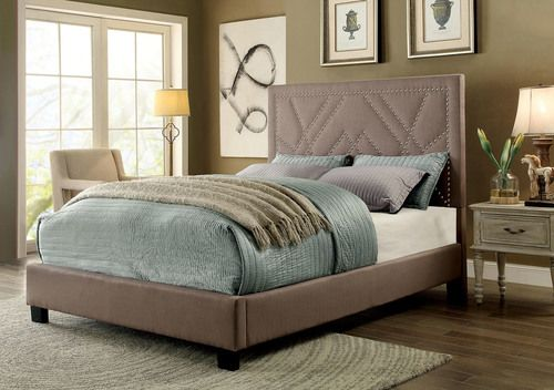 Furniture Of America Light Brown Full Size Platform Bed