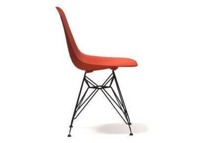 Vitra Eames DSR without upholstery (original and new height) - Designcollectors.com
