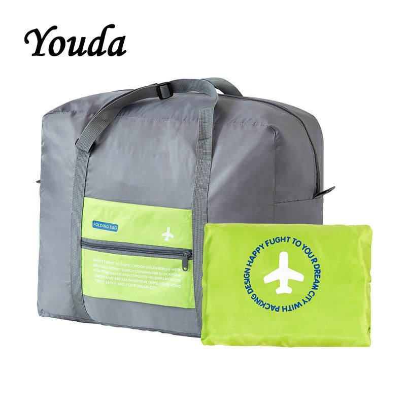 1a58cc0538 Youda Large Capacity Folding Portable Travel Bags Clothing Luggage Plane  Travelling Duffel Storage Pouch Journey Bag