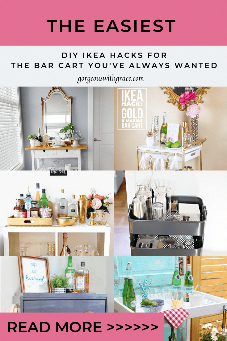 Einfache und günstige DIY Ikea Bar Cart Hacks ikeahacks  ...
