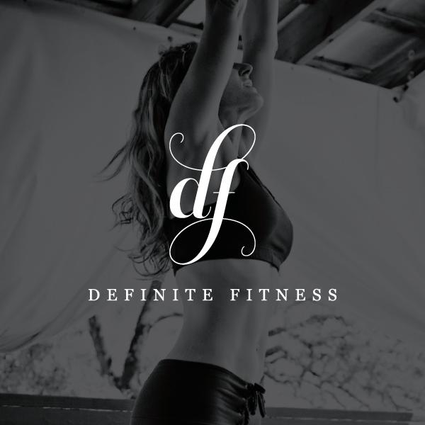 Feminine fitness logo design - custom small business logo - elegant logo design - Sway Design Co.