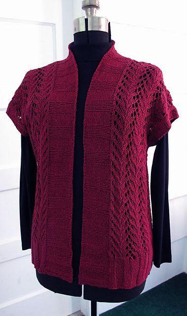 Four Seasons Vine Lace Vest | Knit vest pattern free, Knit ...