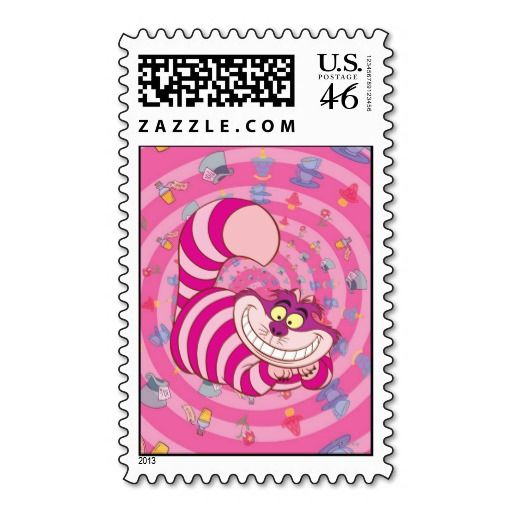 Cheshire Cat Postage Stamps