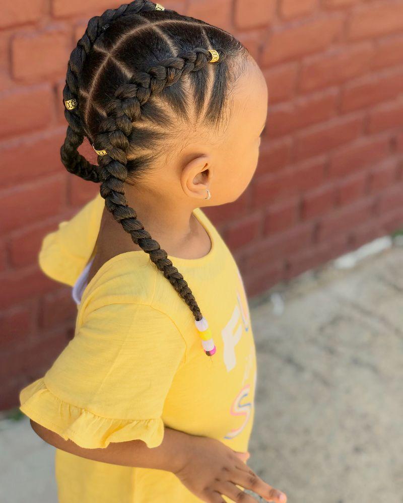 Children's Braids Black Hairstyles 2018 #girlhairstyles