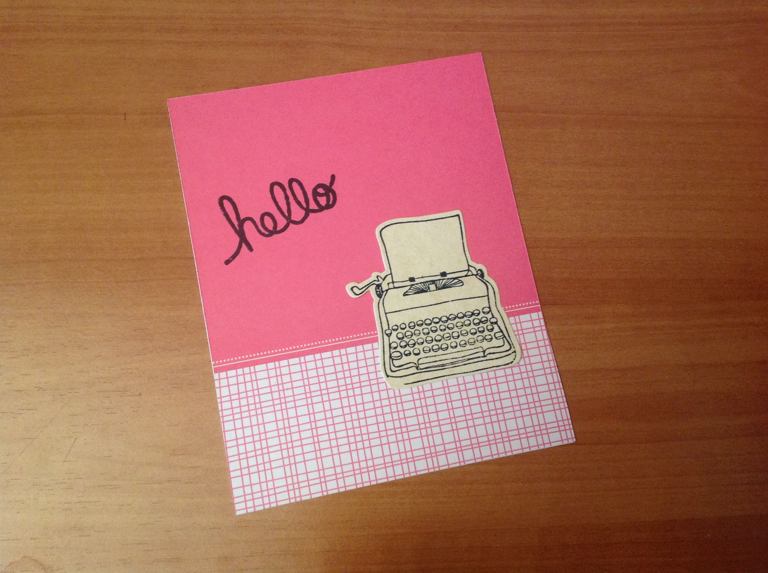 Postal maquina escribir DIY