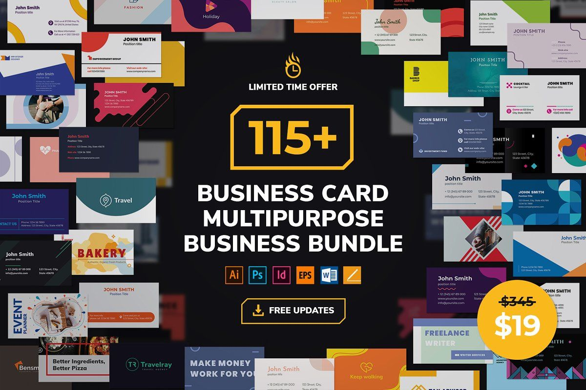 Business Card Template Bundle Business Cards Creative Templates Business Card Template Business Cards Creative