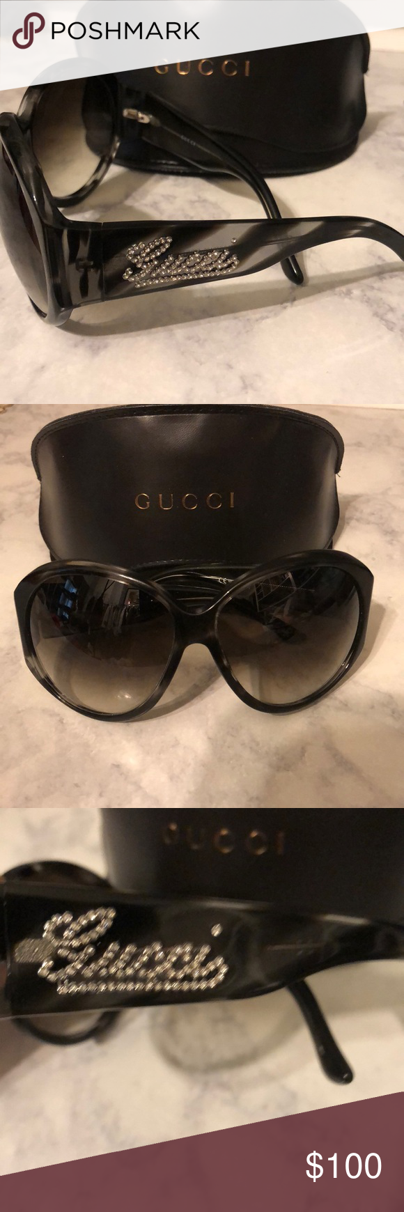 d4b23021183 Gucci Strass Crystal Logo Sunglasses Gucci Strass Crystal Logo oversize  Sunglasses. GG 2927 S