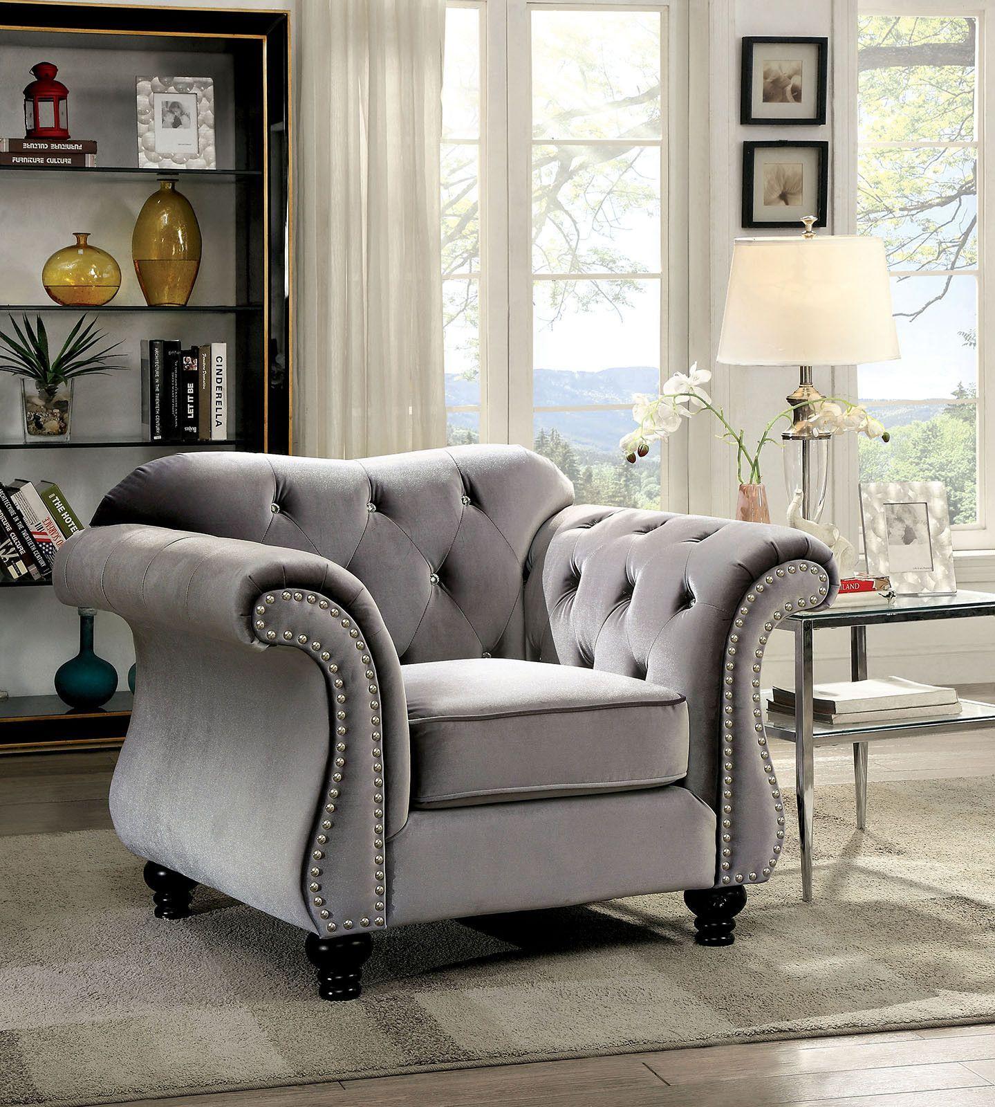 Jolanda Chair CM6159GY CH Description With the luxurious presence