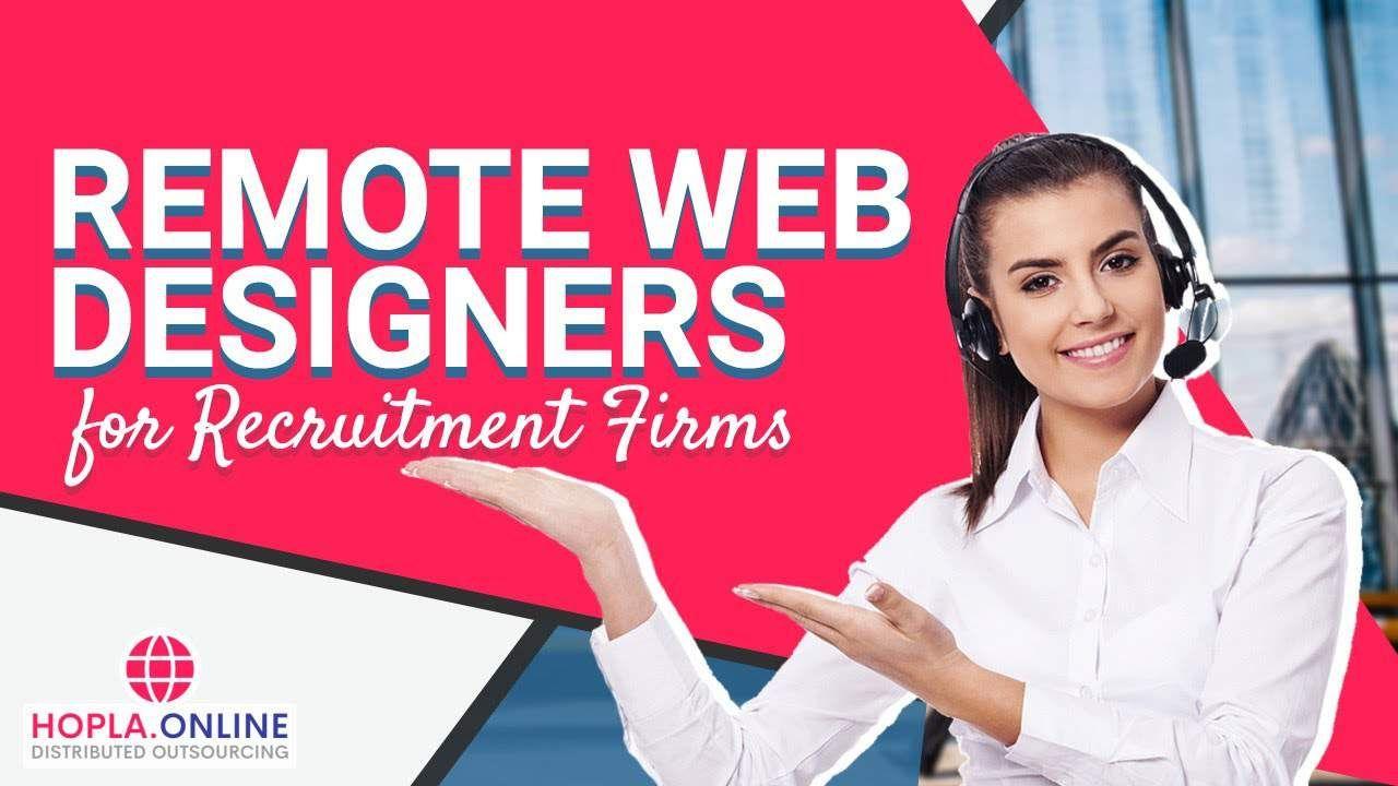 Remote Web Designers for Recruitment Firms creative