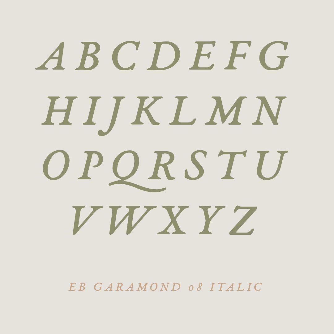 EB Garamond font - Wake Appeal Creative #typeface #font