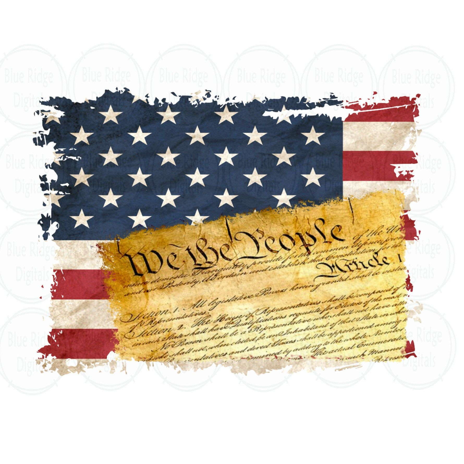 Us Constitution And Flag Png Sublimation Design Distressed Etsy In 2021 Flag Printable Printable Art We The People