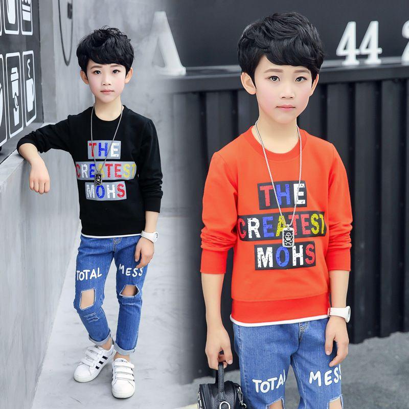 641e6ca3c Children s long-sleeved t-shirt 2018 spring autumn children s ...