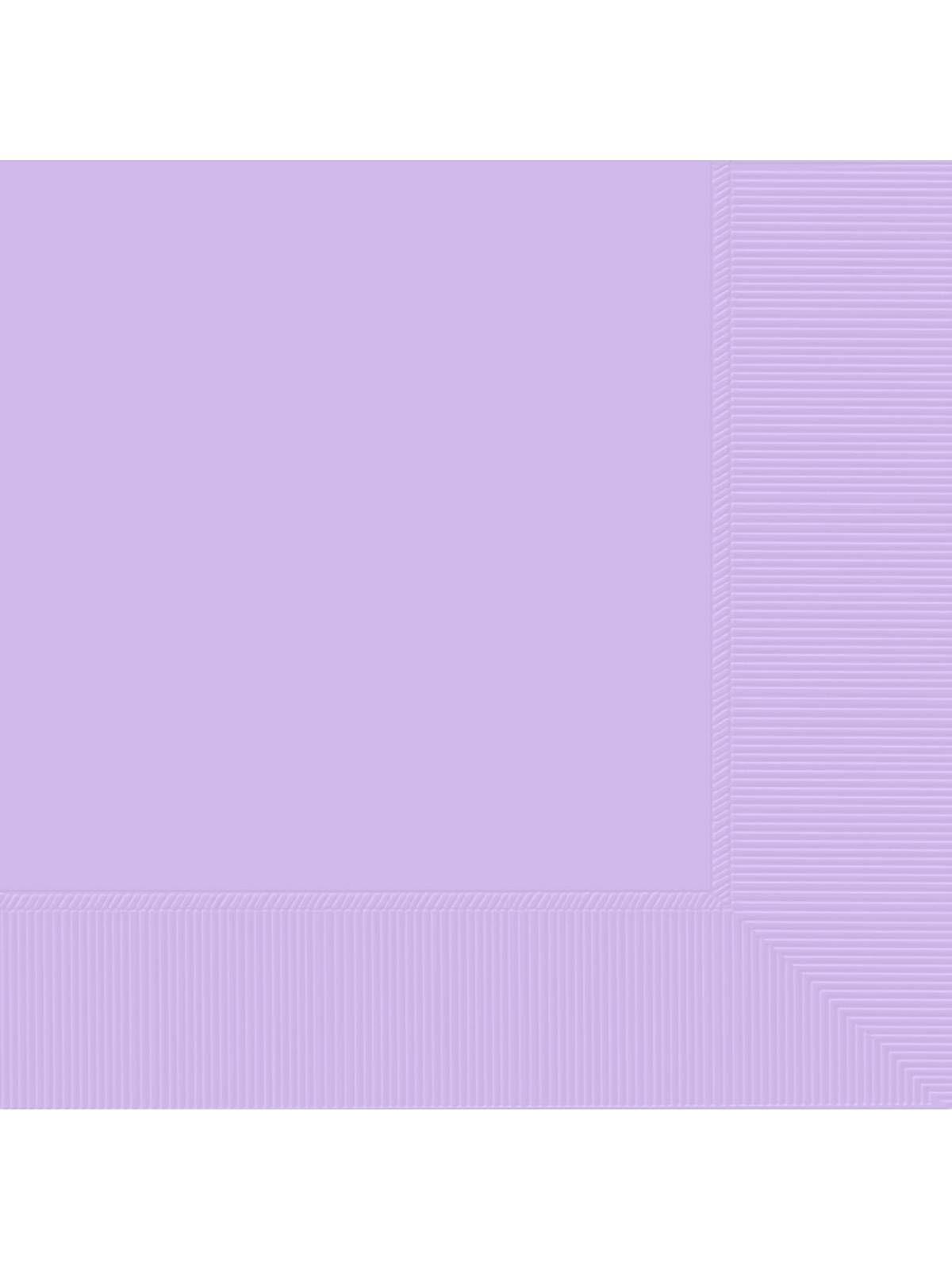 Lavender 2-Ply Beverage Napkins, 50ct. | Wholesale Solid Tableware Accessories