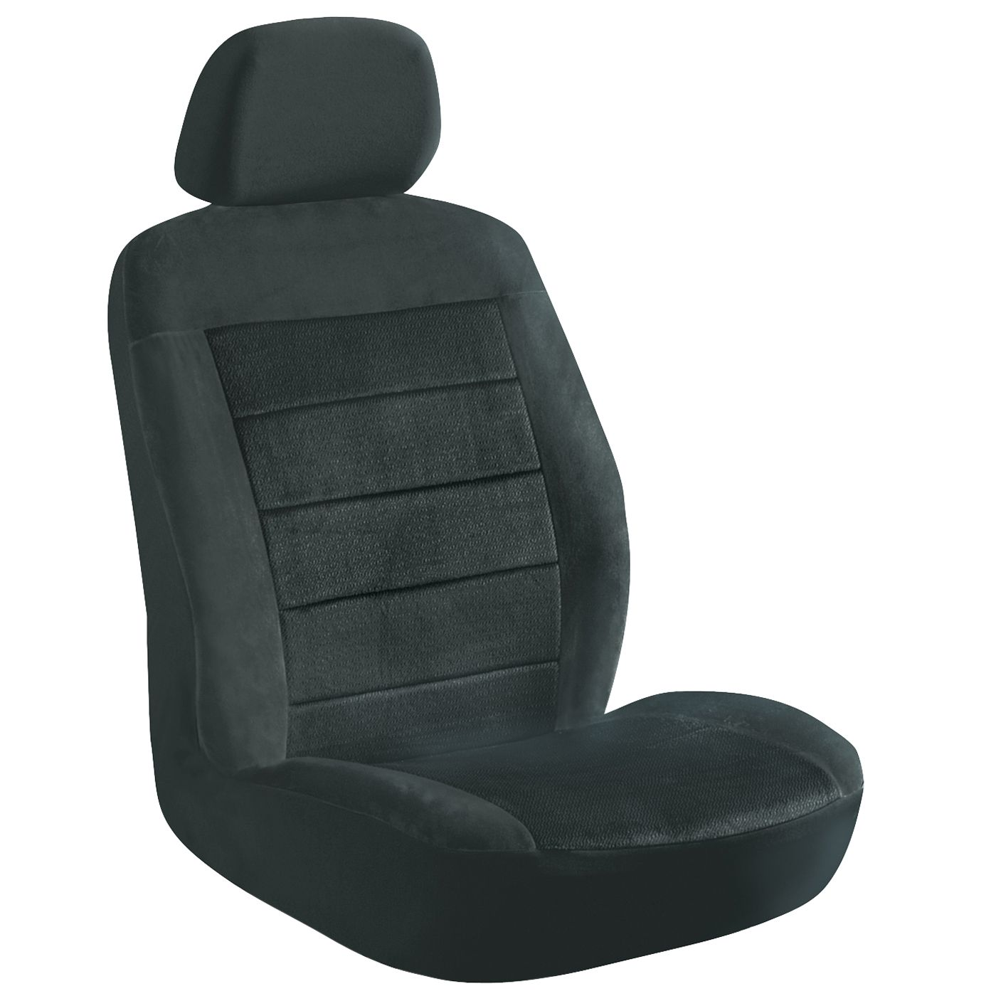 Elegant USA Seat Cover Low Back 2 Piece Royal Velvet Black