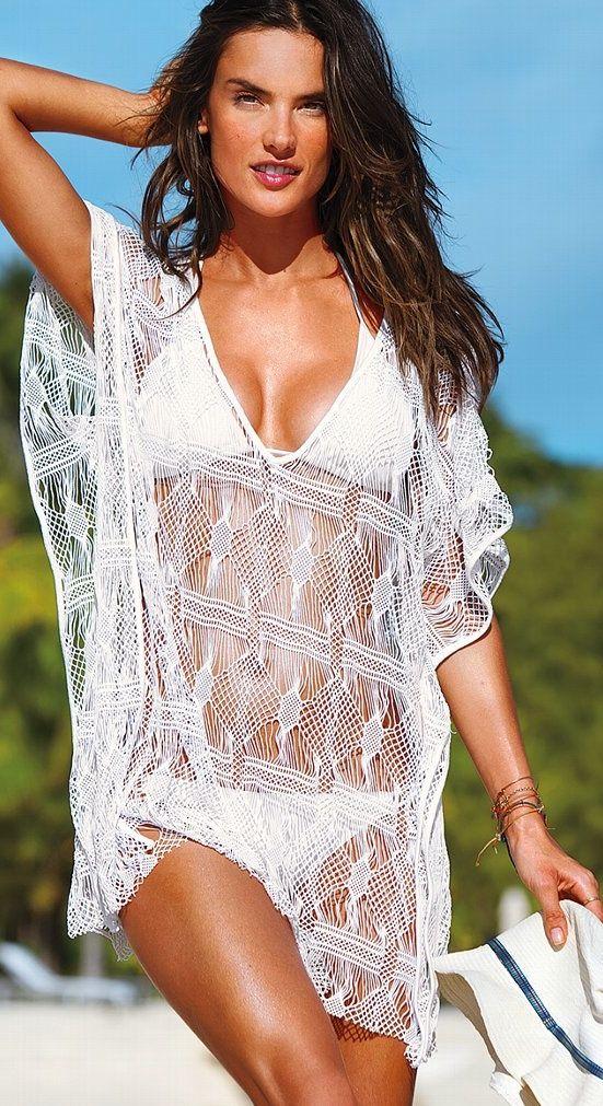 eca398c1a6 Victoria Secret Beach Sexy Crochet Cover-up | Beach wear | Beach ...