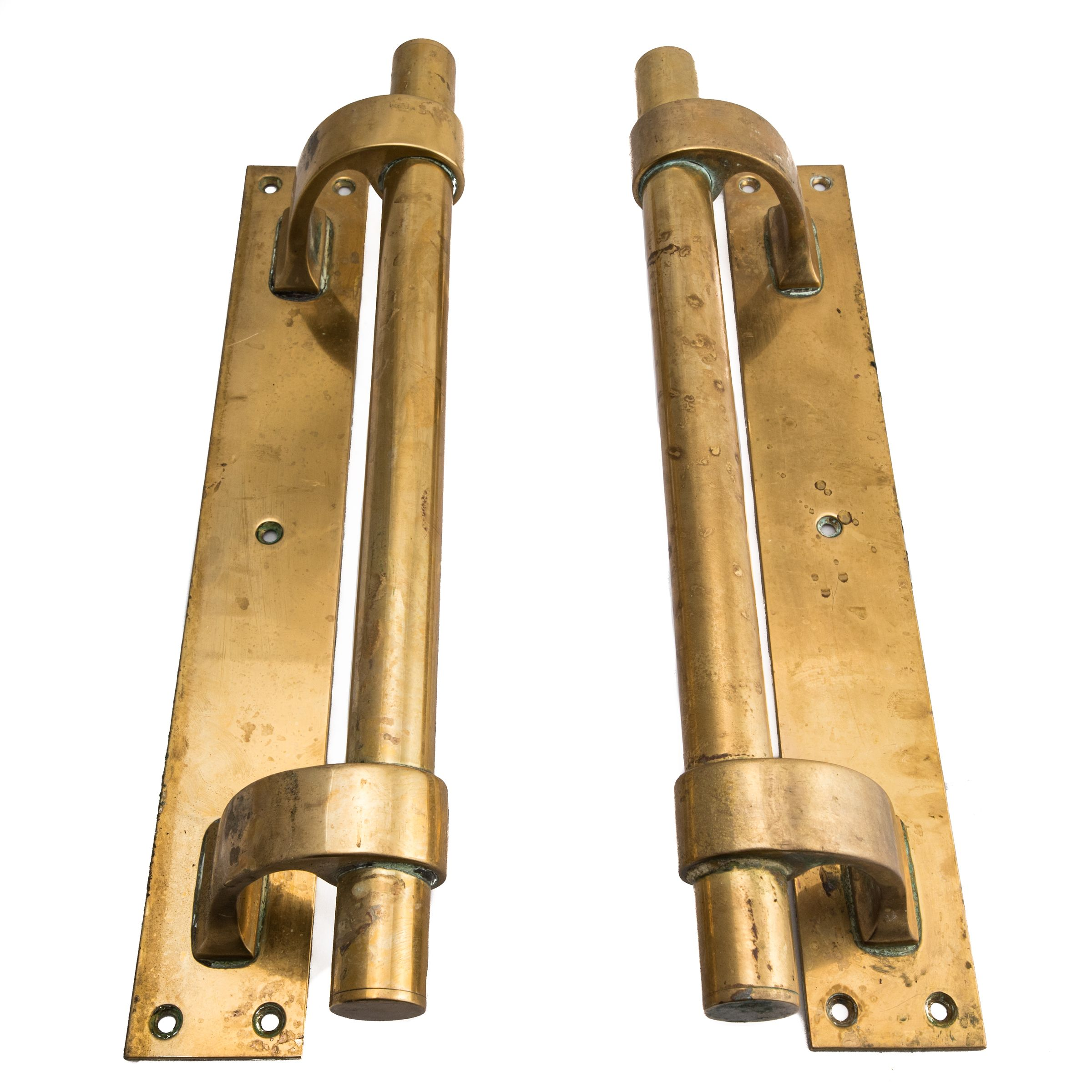 Art Deco Solid Brass Door Pull Handles Architectural Salvage And