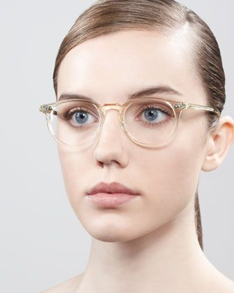 oliver peoples riley fashion glasses beige crystal 31500