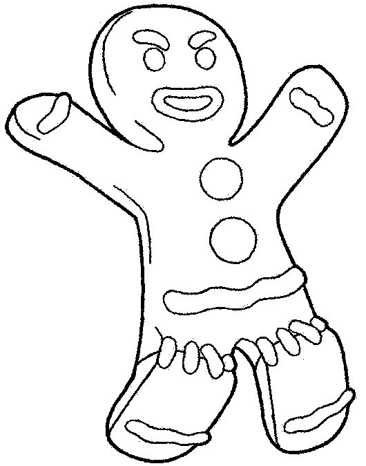 Gingerbread Man Shrek Coloring Pages Pinterest Gingerbread