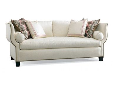 Shop For Hickory White Sofa 4871 05 And Other Living Room Sofas At Marty Mason Collected Home In Atlant Hickory White White Sofa Living Room Living Room Sofa
