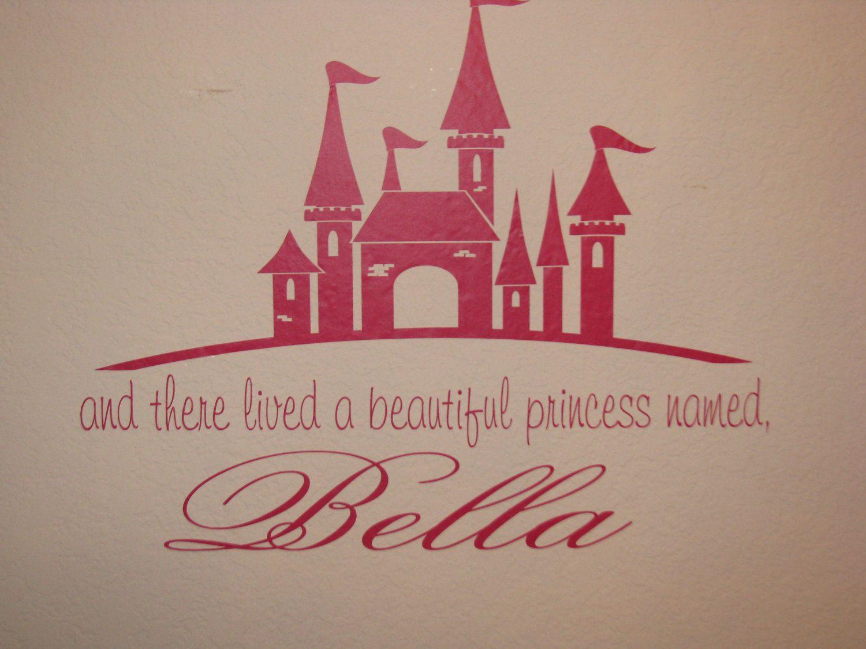Princess Wall Art princess wall decal castle custom name vinyl wall lettering wall