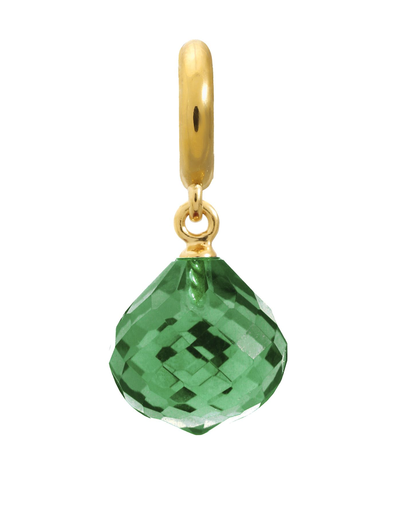 Endless Jewelry Jennifer Lopez Collection 18KY Plated Sterling Silver Emerald Love Drop Charm