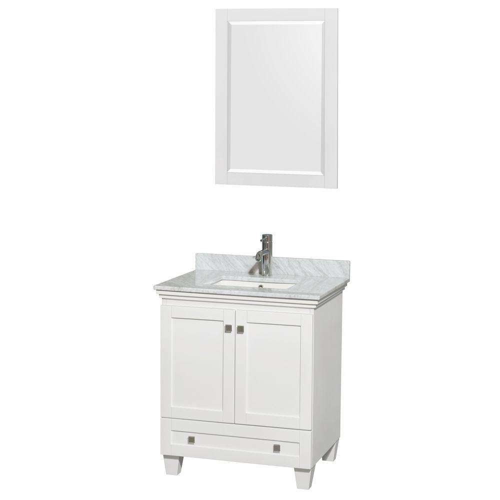 Wyndham Collection Acclaim 30 In Vanity In White With Marble