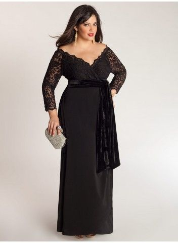 b816942ad Anastasia Gown in Onyx The new face of lace is romantic, dramatic, and  sumptuous. Fabulous and elegant by night, this gown will fit a number of  settings ...