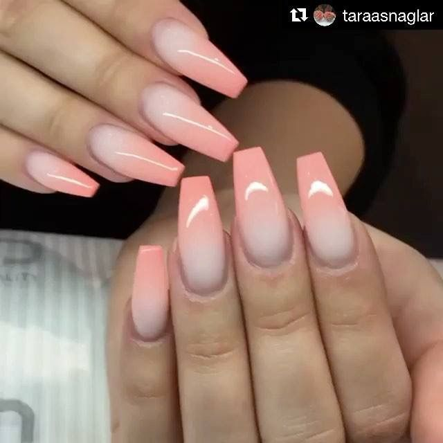 55 Trending And Chic Ombre Coffin Nails Design For You In 2019 Summer Matte White Nails Coffin Nails Designs Wedding Nails Design