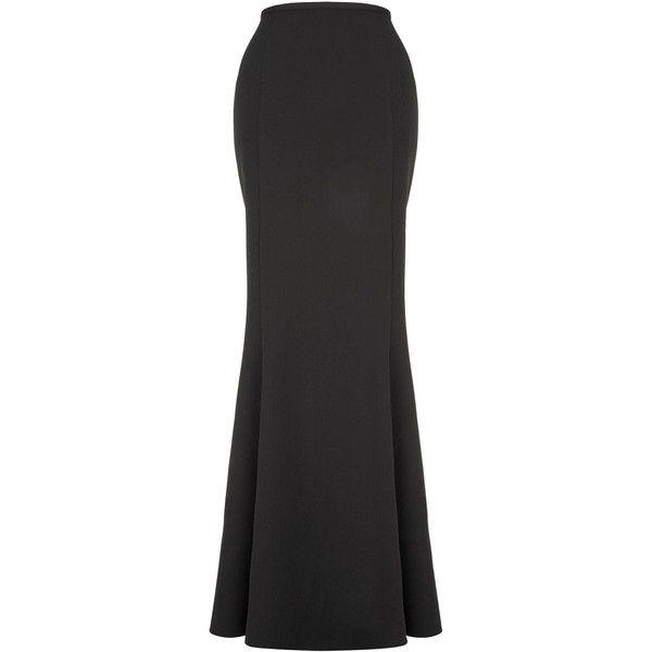 Fitted Black Maxi Skirt - Dress Ala