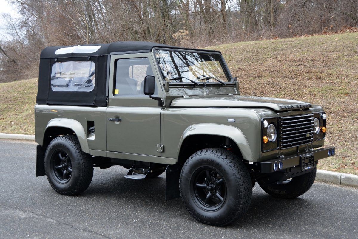 Land Rover Defender 90 Convertible By Arkonik In Willow Green