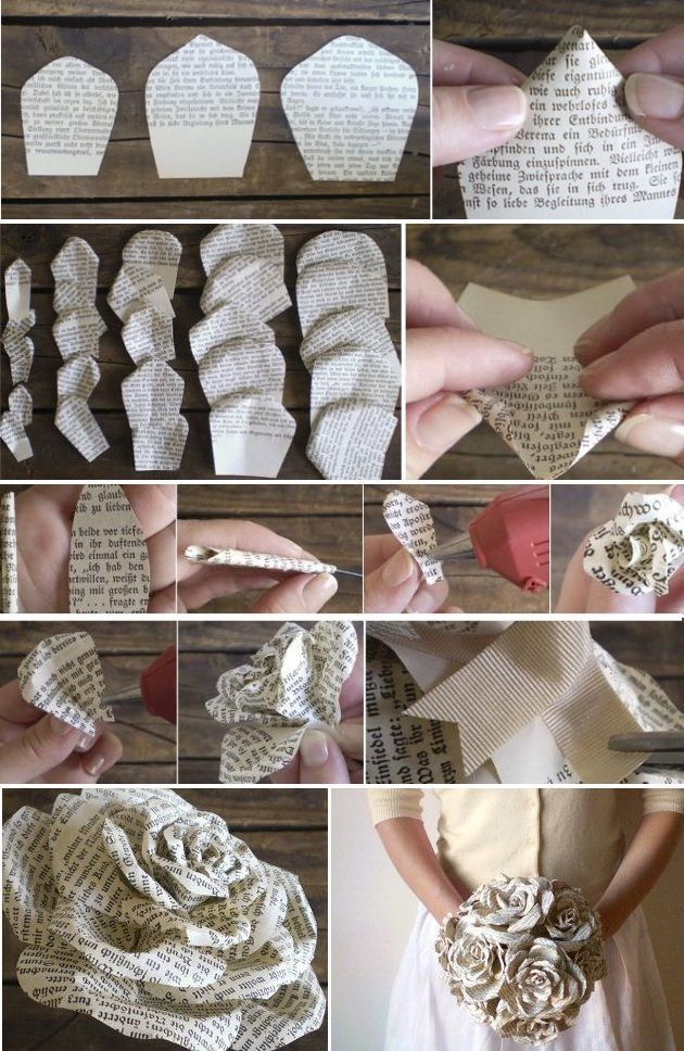 Ramo de flores de papel - Moja strona #paperflowerswedding