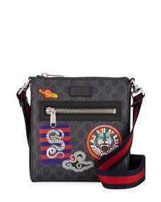 71f90572c4e9 Men's GG Supreme Patches Messenger Bag in 2019 | handbags | Gucci ...