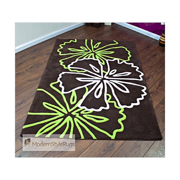 Lime Green Kitchen Rug: Atria Brown Lime Green Rug Liked On Polyvore