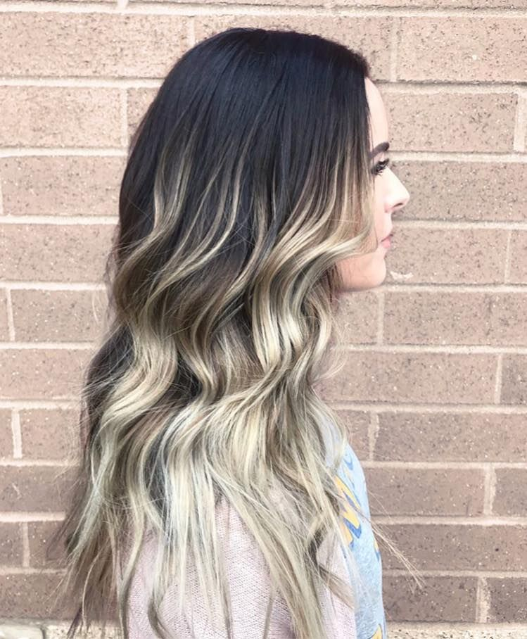 Dark Rooted To Icy Blonde Balayage By Dani At Spark Salon