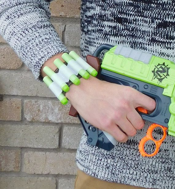 Nerf Gun Bullet Dart Holder Wrist-Band Rambo Bandolier