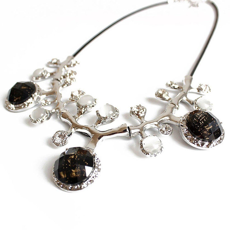 Amazon.com: ZMJ Women's Fashion Chunky Collar Necklace Bib Frontal Jewelry Unique Gift: Clothing